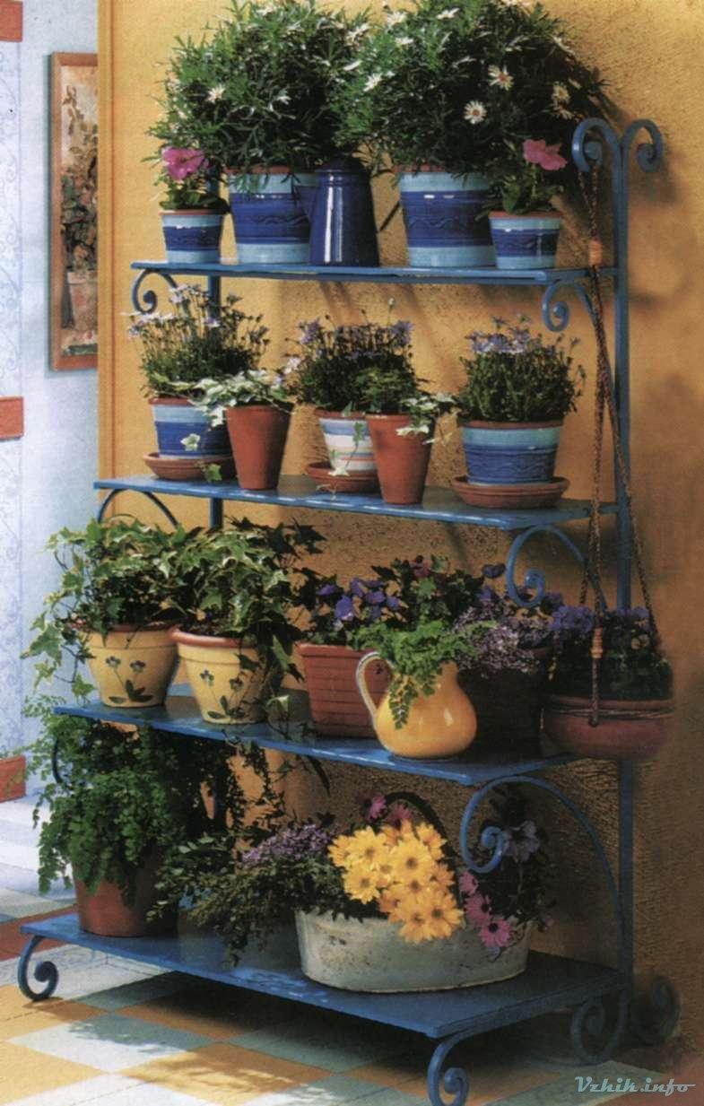 Садовые этажерки для цветов своими руками 27