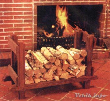 Для дров у печки своими руками