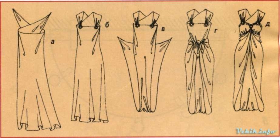 Как из куска ткани сделать платье для куклы