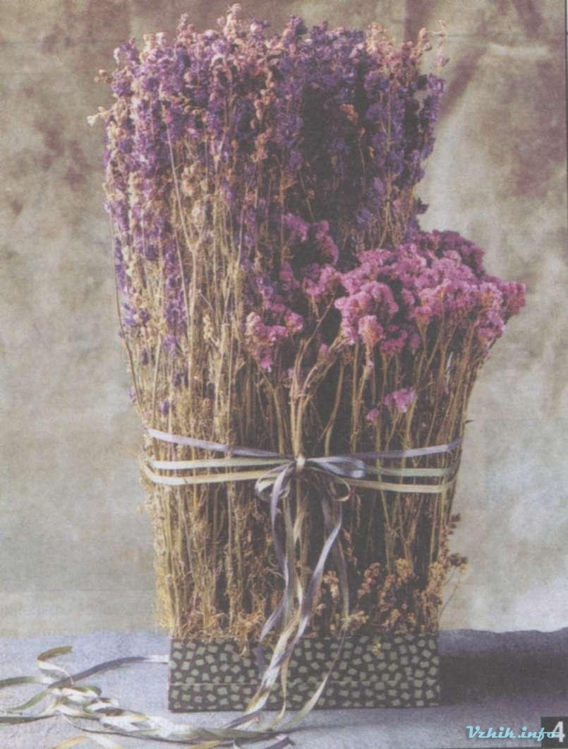 Букеты из сухих трав своими руками