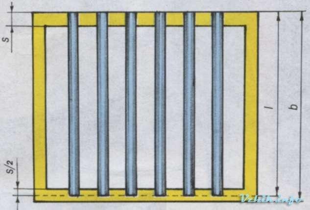 Оконная решётка. Рис. 2. Схема