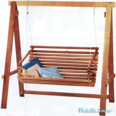 Самому сделать диван качели